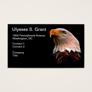 アメリカの白頭鷲の頭部 名刺