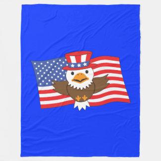 アメリカの白頭鷲 フリースブランケット