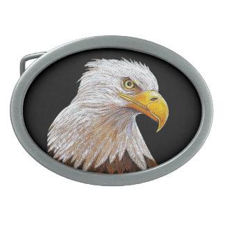 アメリカの白頭鷲 卵形バックル