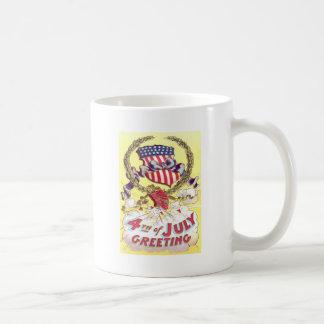 アメリカの盾の爆竹の花火 コーヒーマグカップ