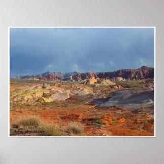 アメリカの砂漠の景色:  火#3の谷 ポスター