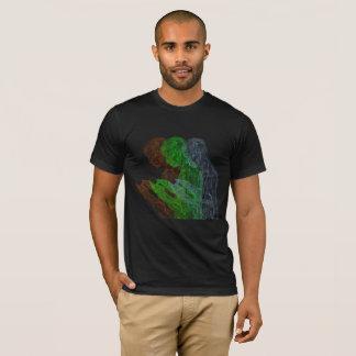 アメリカの祈りの言葉のトライアド(黒なしの、gのb) tシャツ