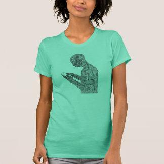 アメリカの祈りの言葉の女性のTシャツ(ミント) Tシャツ