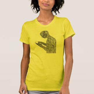 アメリカの祈りの言葉の女性のTシャツ(日光) Tシャツ