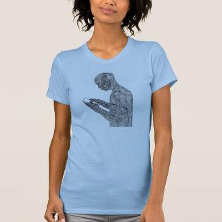 アメリカの祈りの言葉の女性のTシャツ(空色) Tシャツ