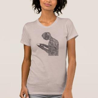 アメリカの祈りの言葉の女性のTシャツ(藤色) Tシャツ