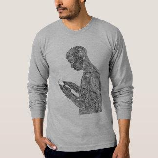 アメリカの祈りの言葉の長袖のTシャツ(ヒースの灰色) Tシャツ