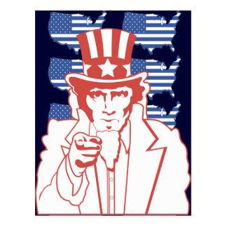 アメリカの米国市民 ポストカード