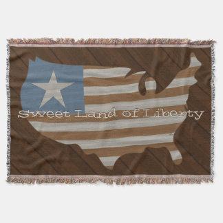 アメリカの素朴な旗 スローブランケット