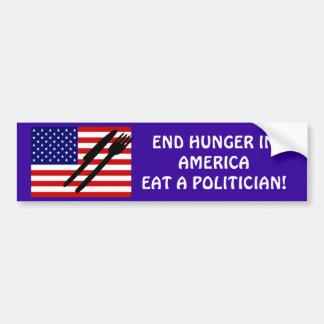 アメリカの終わりの空腹 バンパーステッカー