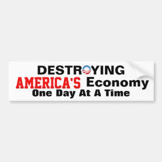 アメリカの経済を破壊しているアンチオバマ バンパーステッカー