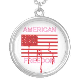 アメリカの自由 シルバープレートネックレス