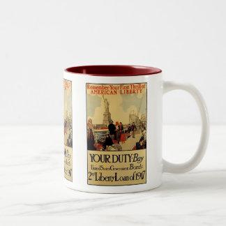 アメリカの自由 ツートーンマグカップ