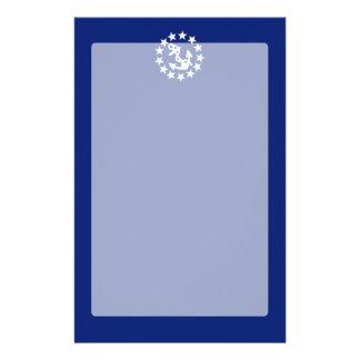 アメリカの航海のなヨットの旗の濃紺の装飾 便箋