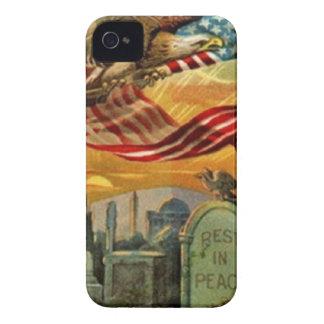アメリカの芸術のヴィンテージのメモリアルデー Case-Mate iPhone 4 ケース