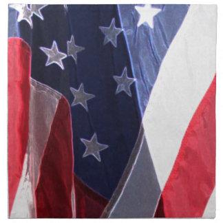 アメリカの芸術の旗 ナプキンクロス