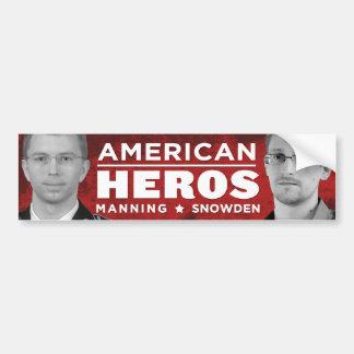 アメリカの英雄のバンパーステッカー- Snowden/人を配置すること バンパーステッカー