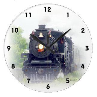 アメリカの蒸気の列車 ラージ壁時計