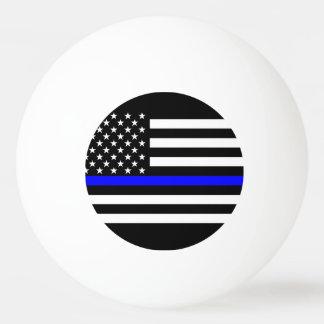 アメリカの薄いブルーライン記号 卓球ボール