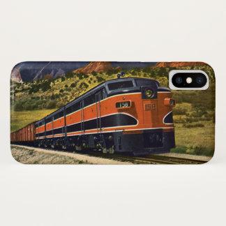 アメリカの西のヴィンテージの交通機関、列車158 iPhone X ケース