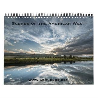 アメリカの西の写真のカレンダー カレンダー