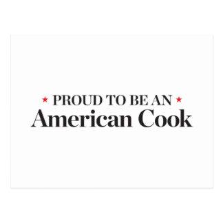 アメリカの調理師があること誇りを持った ポストカード