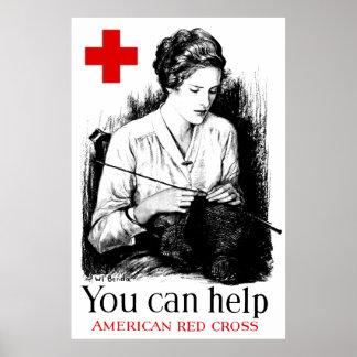 アメリカの赤十字を救済できます ポスター