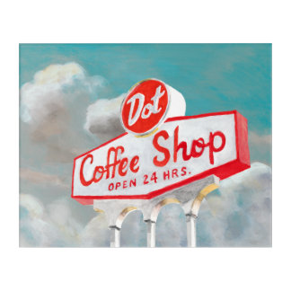 アメリカの路傍|の喫茶店の印 アクリルウォールアート