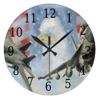 アメリカの軍の飛行機の円形の時計 ラージ壁時計