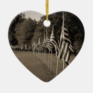 アメリカの退役軍人の旗 セラミックオーナメント
