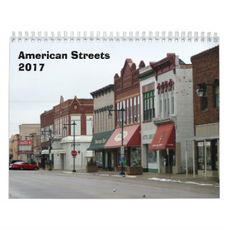 アメリカの通りのカレンダー- 2017年 カレンダー