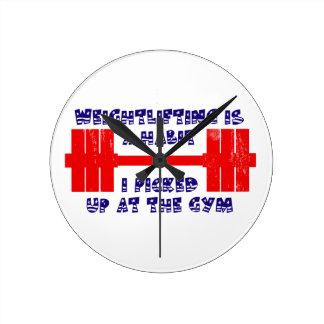 アメリカの重量挙げの習慣 ラウンド壁時計