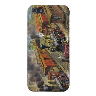 アメリカの鉄道列車の(1874年の) iphone 4ケース iPhone 5 case