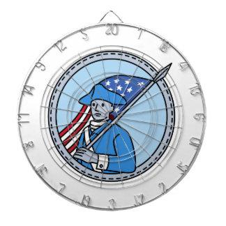 アメリカの革命的な兵士の旗の円モノラル李 ダーツボード