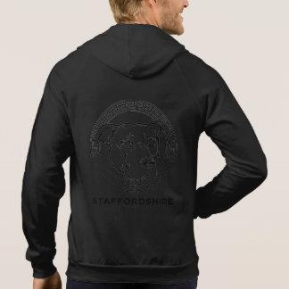 アメリカの(犬)スタッフォードのロゴ-袖なしのフード付きスウェットシャツ パーカ