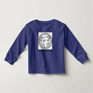 アメリカの(犬)スタッフォードの女の子のトップのピット・ブルのワイシャツ トドラーTシャツ