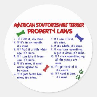 アメリカの(犬)スタッフォードの特性の法律2 ラウンドシール