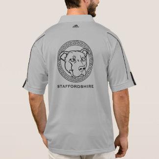 アメリカの(犬)スタッフォードアディダス- 1/2のジッパーのプルオーバー ポロシャツ