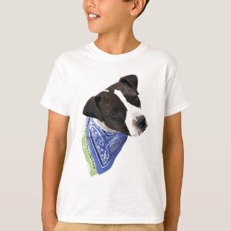 アメリカの(犬)スタッフォードテリアAggie Tシャツ