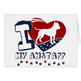 アメリカの(犬)スタッフォード カード