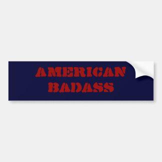 アメリカのbadass バンパーステッカー