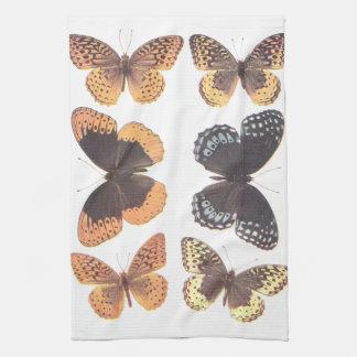 アメリカのFritillariesの~の蝶 キッチンタオル