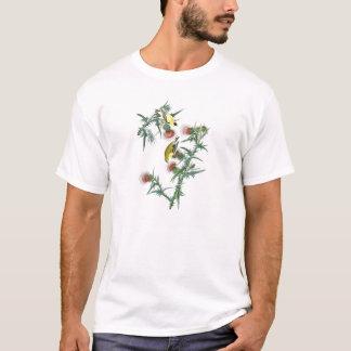 アメリカのGoldfinchのジョンアメリカのAudubonの鳥 Tシャツ