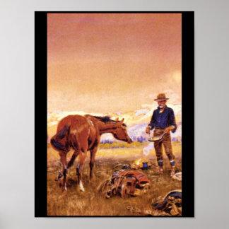 アメリカのPartners',チャールズM. Russell_Art ポスター