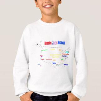 アメリカはビジネスを意味します スウェットシャツ
