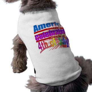 アメリカは旗の花火を7月第4祝います ペット服