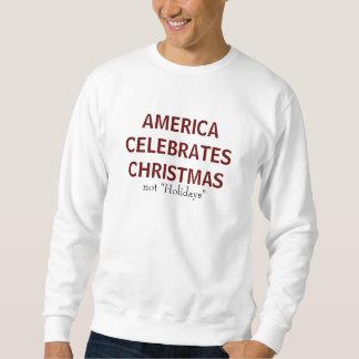 """アメリカは祝いますクリスマスを、ない""""休日"""" スウェットシャツ"""