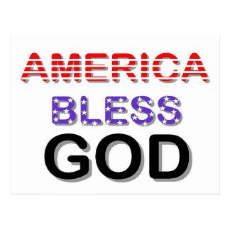 アメリカは神を賛美します ポストカード