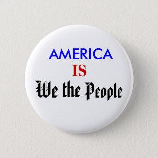 アメリカは私達人々です 5.7CM 丸型バッジ