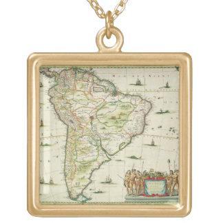 アメリカはMeridionalisを、ページを捲ります「地図書の未成年者の93のパーでとります ゴールドプレートネックレス